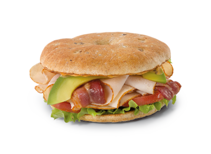 Turkey Club Bagel Thin Sandwich