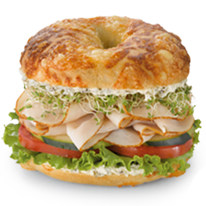 Tasty Turkey on Asiago Bagel